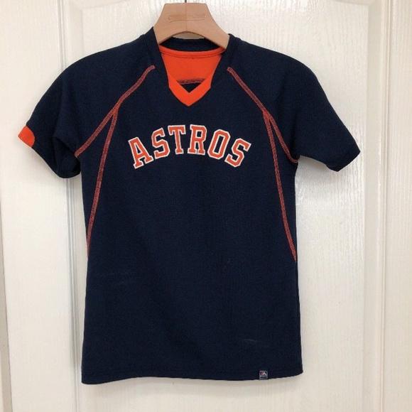 low priced 4a457 4ae8d Houston Astros Navy & Orange Base Team Jersey